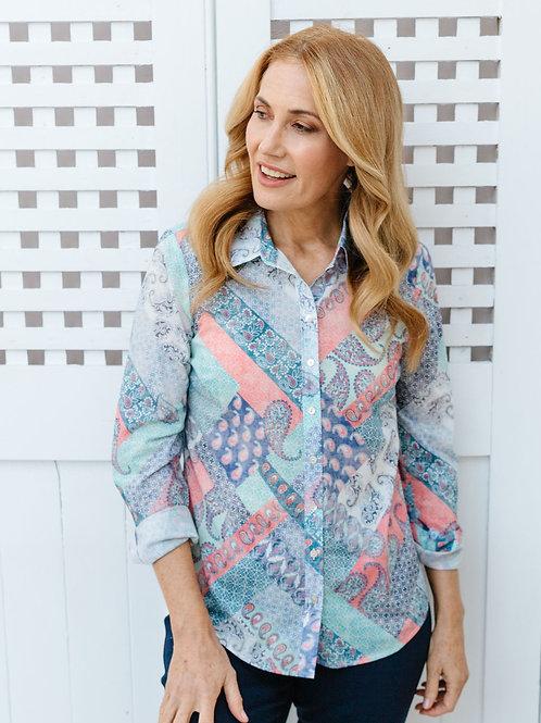 Goondiwindi 100% Cotton long Sleeve Shirt / Patchwork