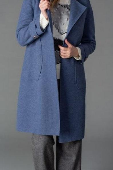 Gabby Isabella Chloe Coat / Blue Denim