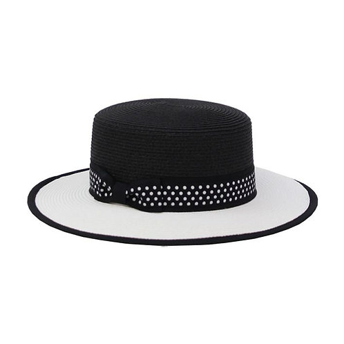 Jendi Darby Hat / Black & White