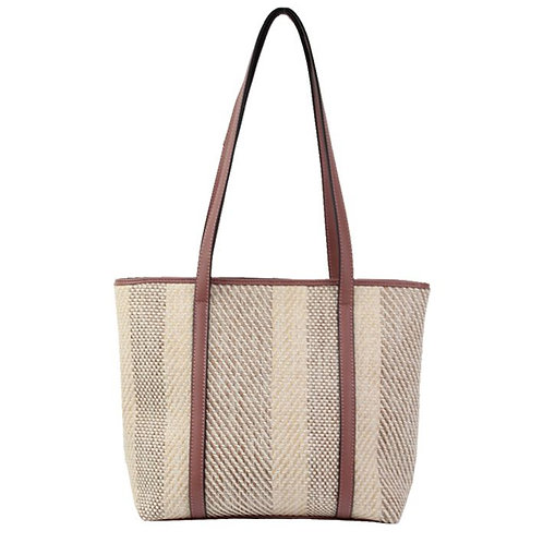 Jendi Woven Beach Tote Bag / Natural