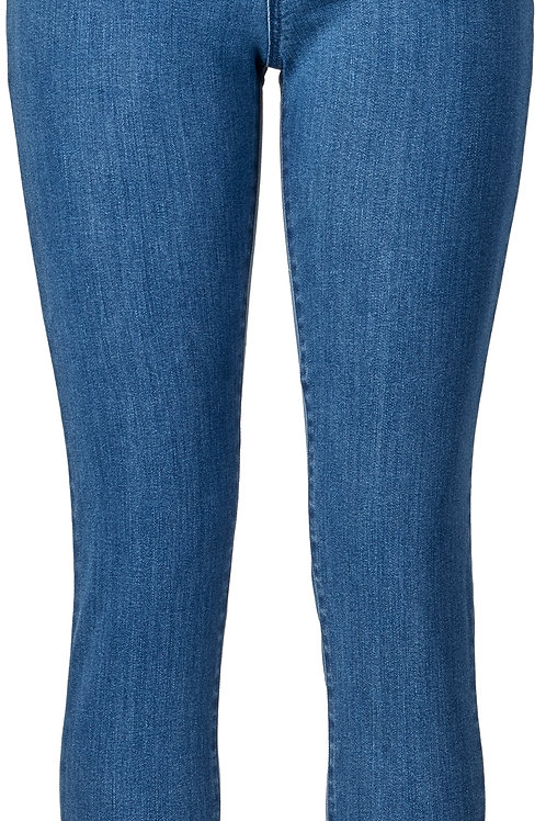 Vassalli / Skinny Leg Full Length Jean with Basket Weave Pock