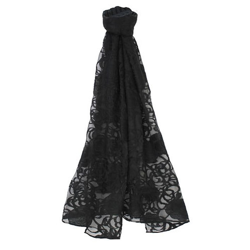 Jendi Lace Scarf / Black