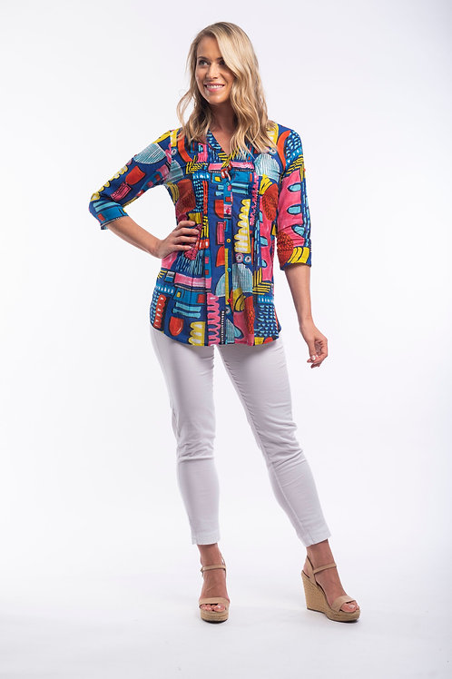 Orientique Catalonia Blouse with 3/4 Sleeve