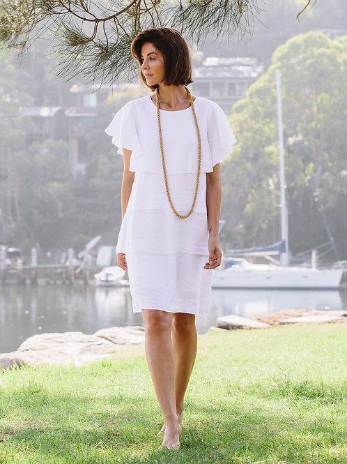 See Saw / Layered Linen Dress