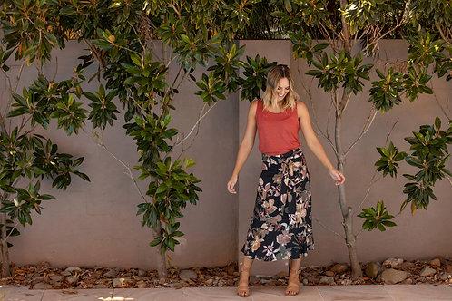 Jump Floral Flare Skirt