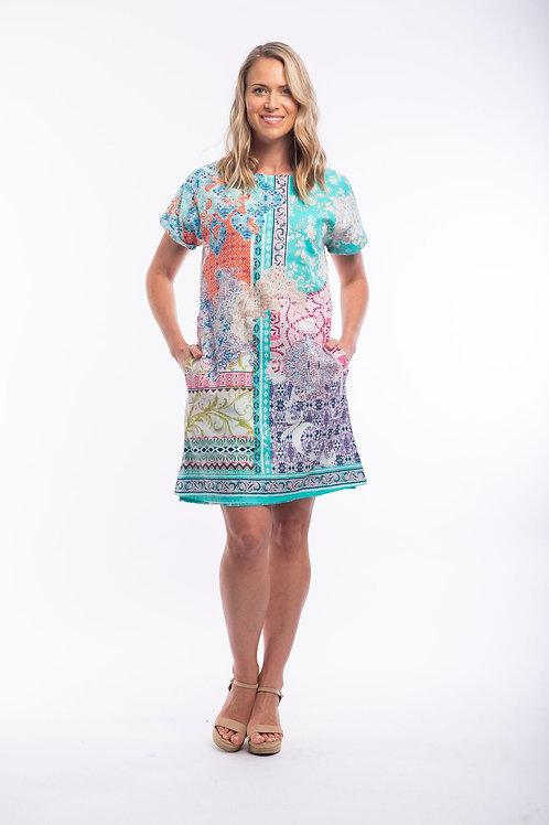 Orientique Madeira Short Sleeve Dress