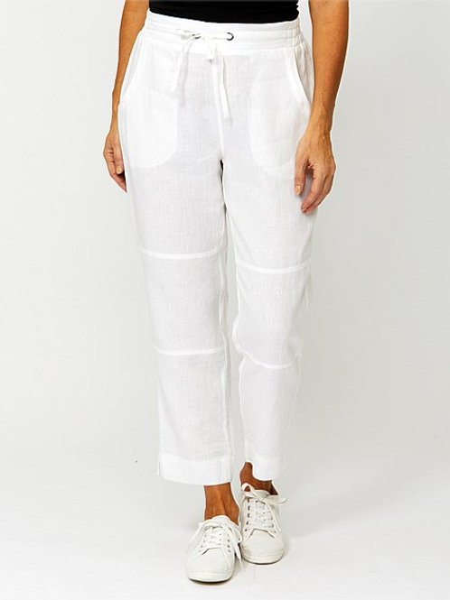 Ping Pong Linen Pant/ White