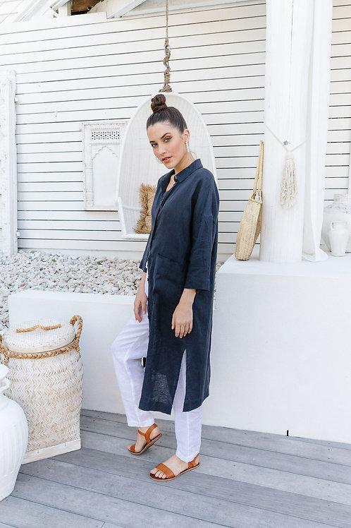 Goondiwindi 100% Linen Shirtmaker Dress