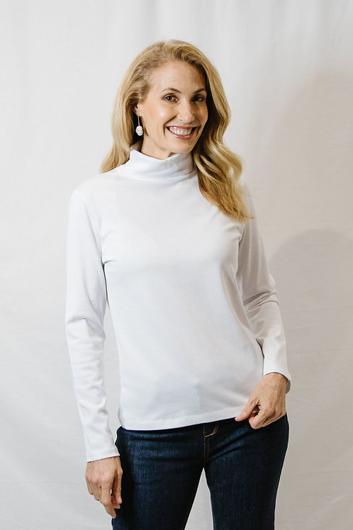 Goondiwindi Cotton / Cotton Jersey Long Sleeve Skivvy / White