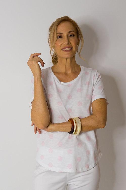 Goondiwindi Cotton T Shirt / Pale Pink Spot