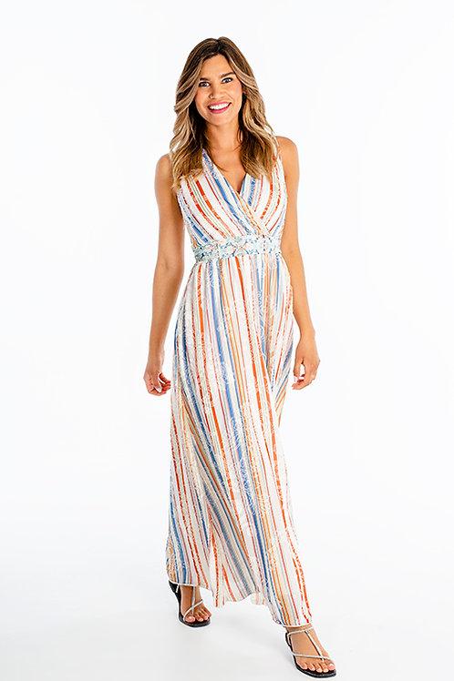 Spanner Stripe Maxi Dress