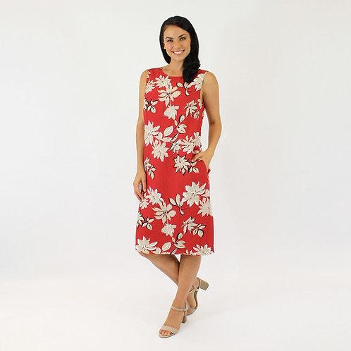 Jendi Floral Dress / Red