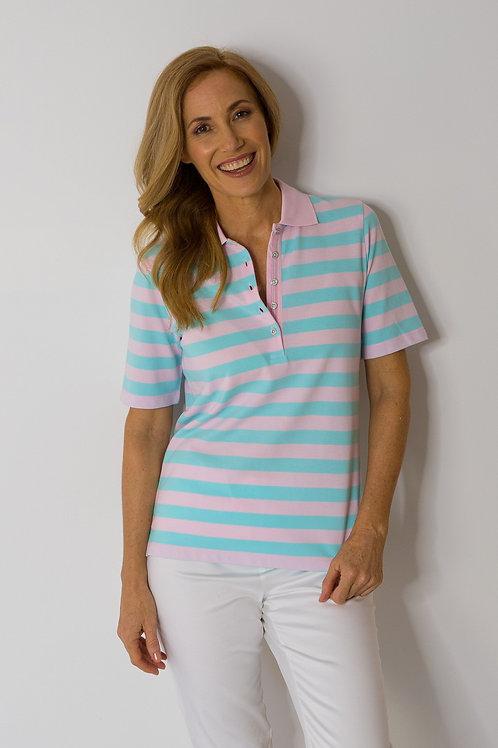 Goondiwindi Polo Shirt / Pink / turquoise