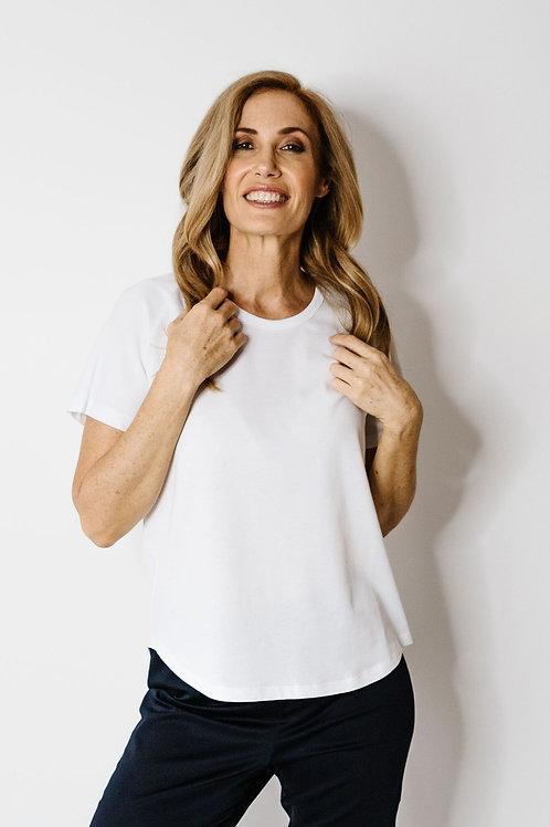 Goondiwindi Cotton Round Neck T Shirt / White