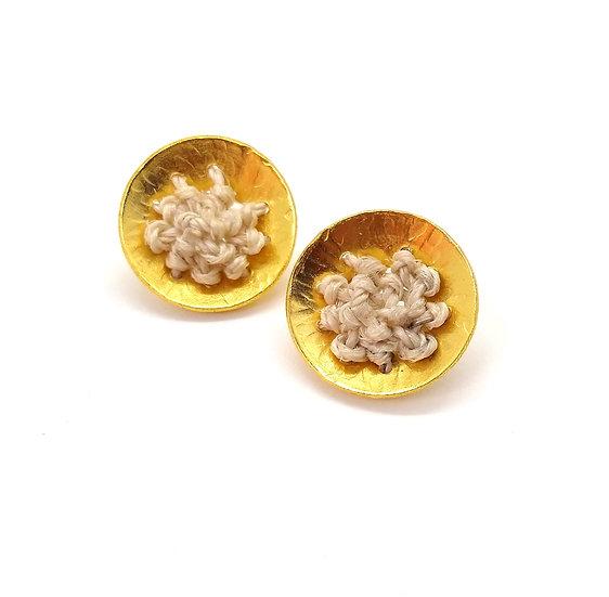 Aretes Nido de oro