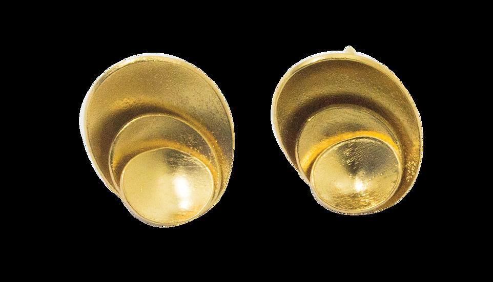 Earrings Gold Fractal Fruit