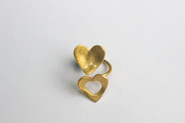 Ring Double Heart