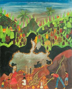 Saintus Edgard 30X24 #4-3-96 Canvas 1973