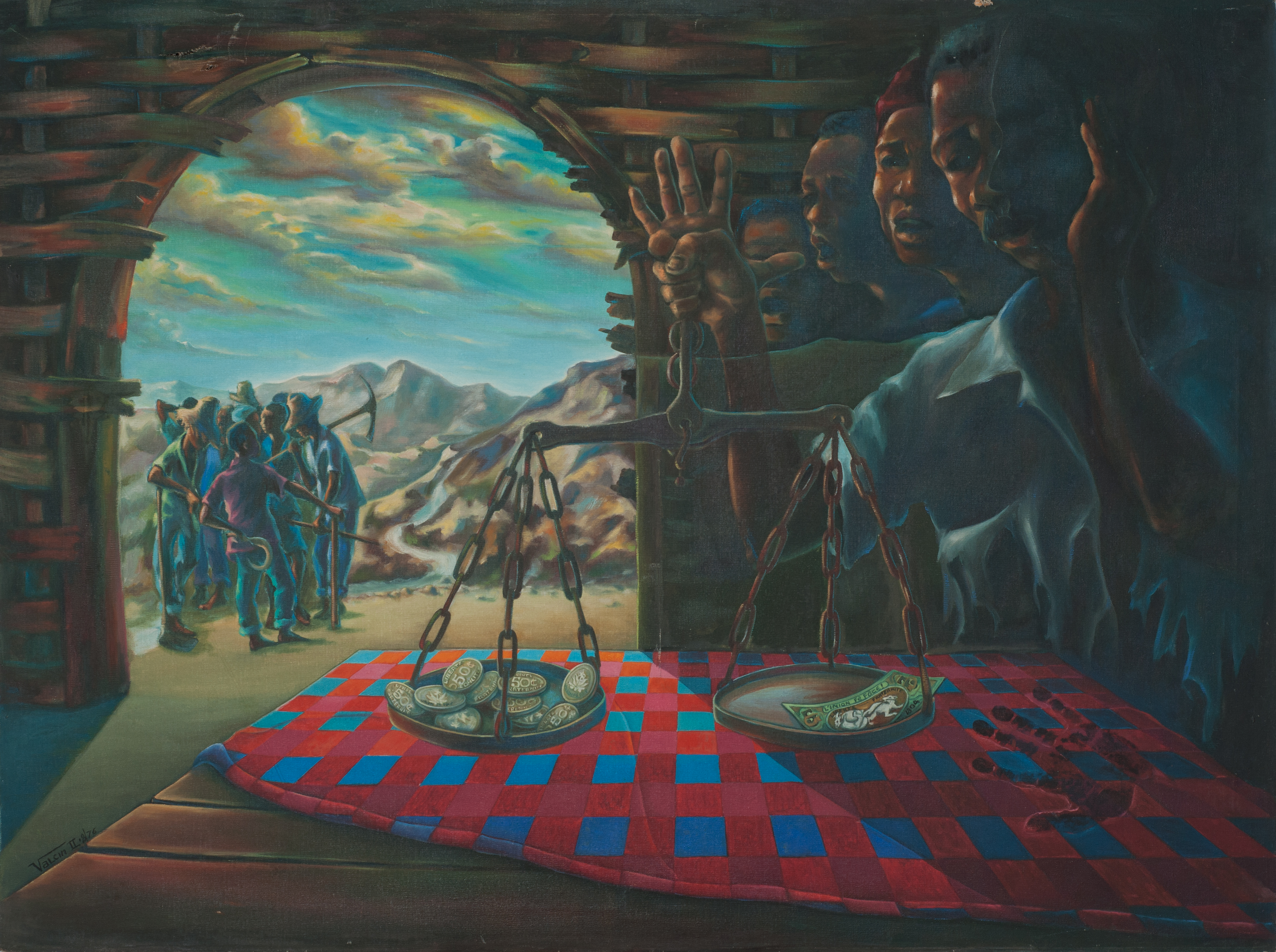 Valcin Fravange 36X48 #37-3-96 Canvas 19