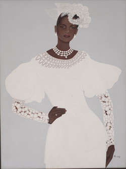 Wilbert Paul 48X36 #6-3-96 Canvas 1991