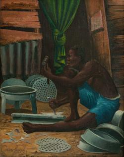 Casimir Joseph 10X8 #3-3-96 Canvas 1983.