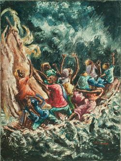 Louizor Ernst 32X24 #7-3-96 Canvas Circa