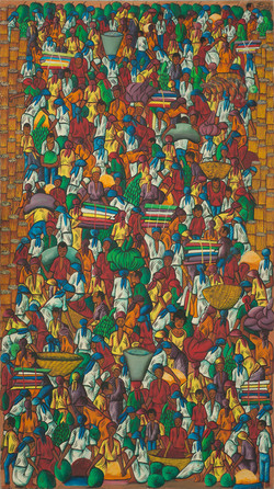 Jean Felix 72X40 #19-4-90 Canvas 1975