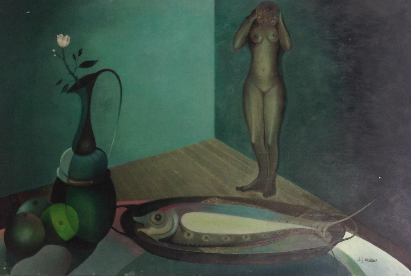 Gourgue Jacques E. 24X36 #58-3-96 canvas