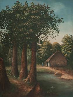 Jn Louis Ernst 32X24 #23-3-96 Canvas 198