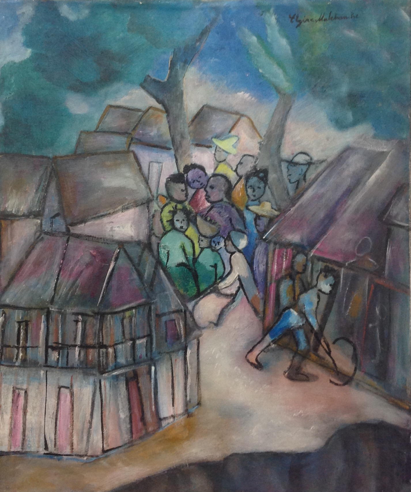 Malebranche Elzire  24X20 #25-3-96 canvas