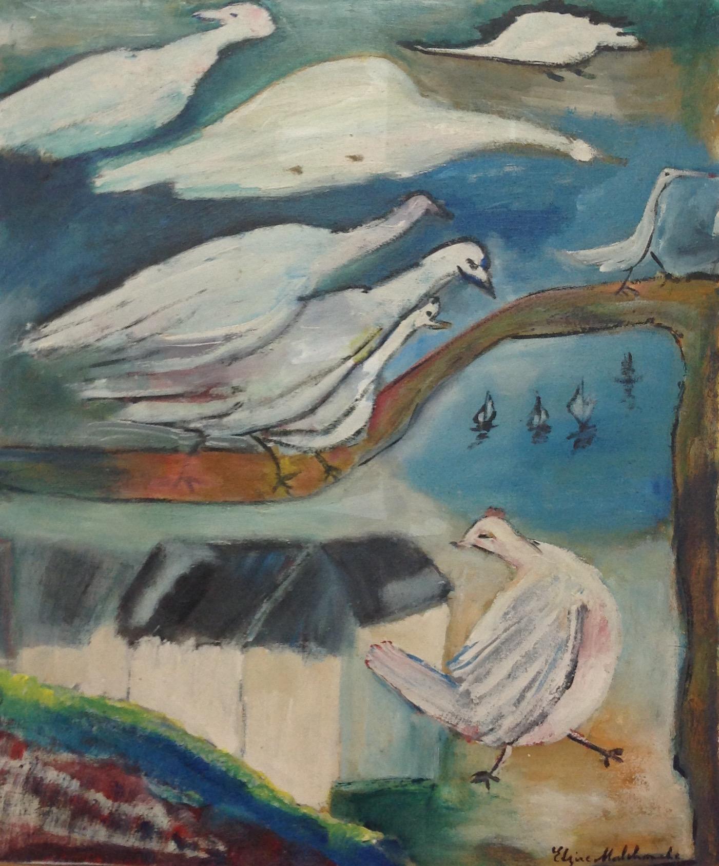 Malebranche Elzire  24X20 #30-3-96 canvas