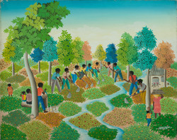 Jean Edner 24X30 #36-4-90 Canvas Circa 1