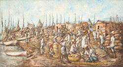 Louizor Ernst 39X72 #123-3-96  Canvas 19