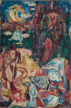 Denis Villard 48X32 #7-3-96 Canvas Circa