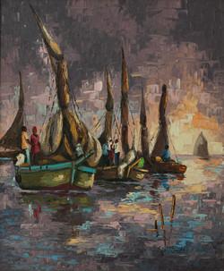Charles Pierre 24X20 #3-3-96 Canvas 1974