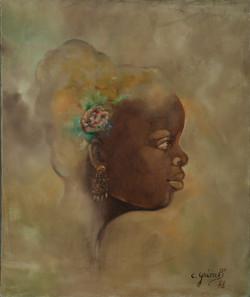 Grimb Chantal 24X20 #5-3-96 Canvas 1978.