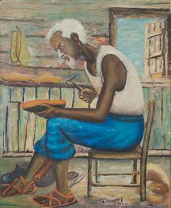 Wah Bernard 24X20 #14-3-96 Canvas 1960
