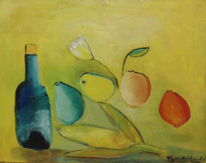 Malebranche Elzire  16X20 #10-3-96 canvas 1973