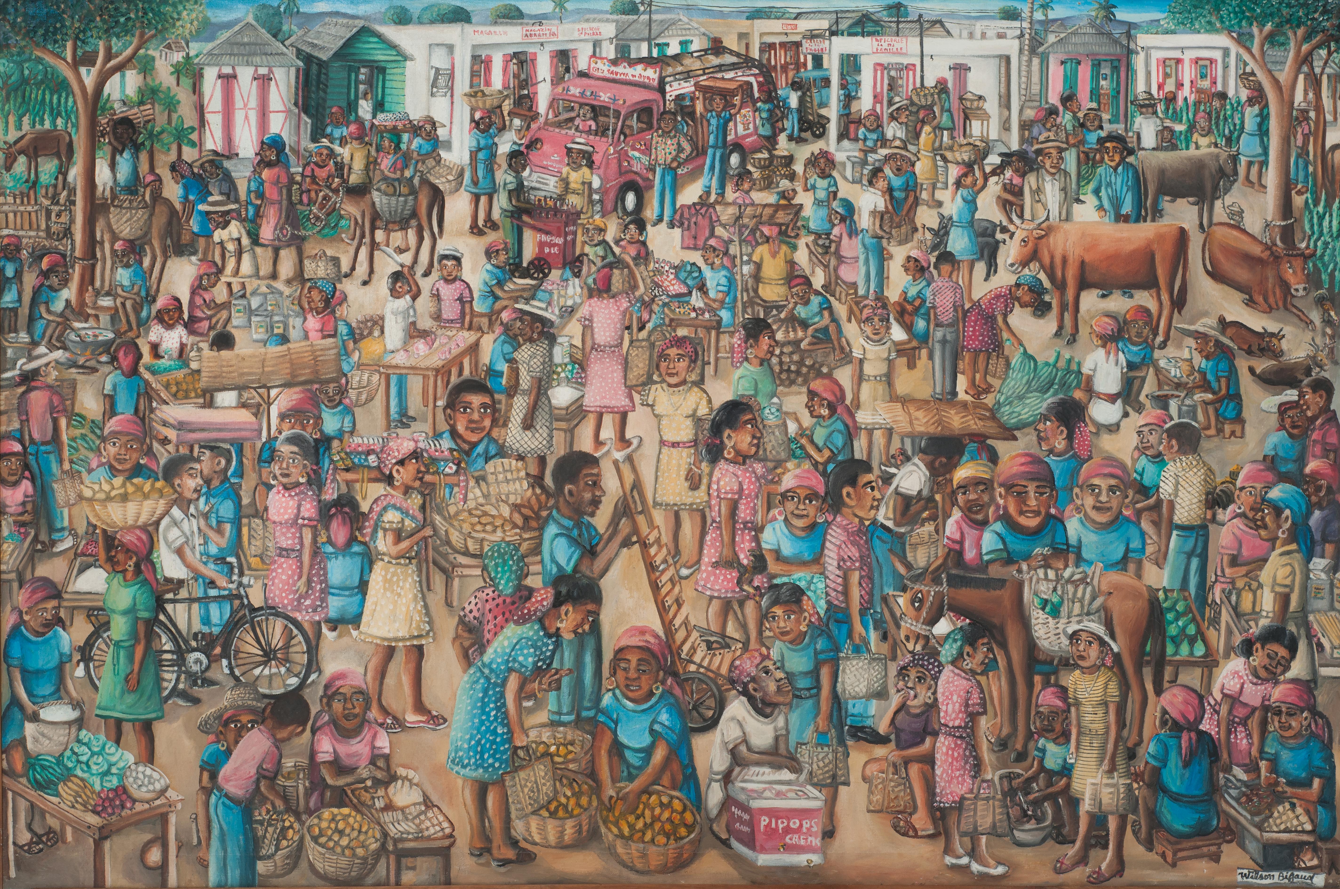 Bigaud Wilson 40X60 #6-3-96 Canvas Circa