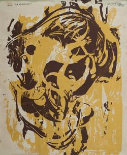 Wah Bernard 17X14 #32-4-83 Lithographie