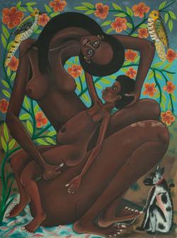Francois Roger 40X30 #5-4-90 Canvas 1985