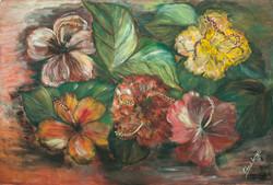Large Edma 24X36 #2-10-88 Canvas 1975