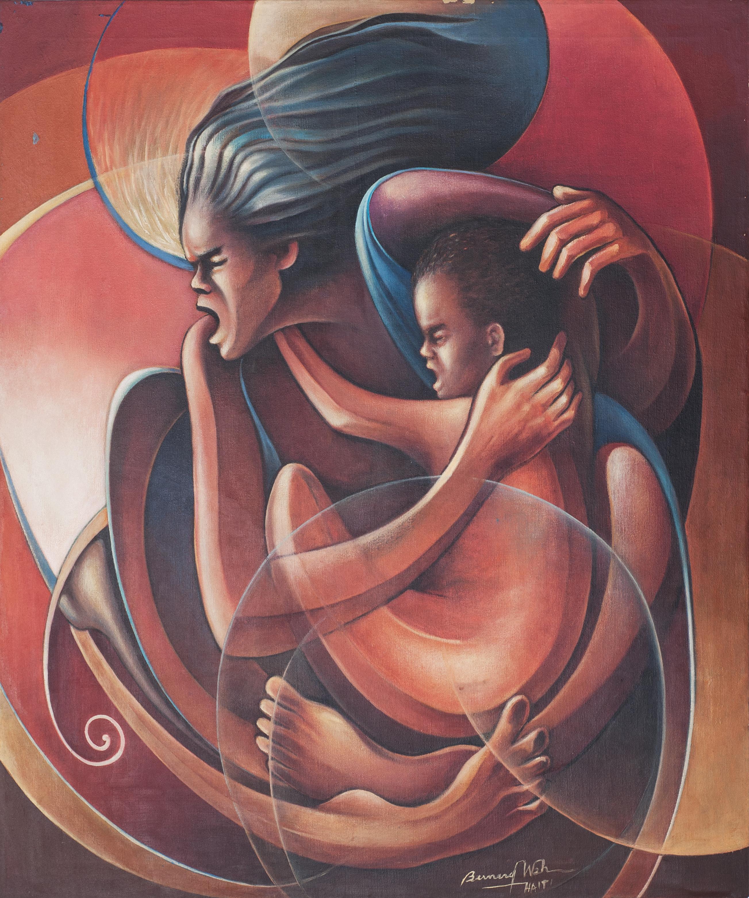 Wah Bernard 36X30 #3-3-96 Canvas Circa 1