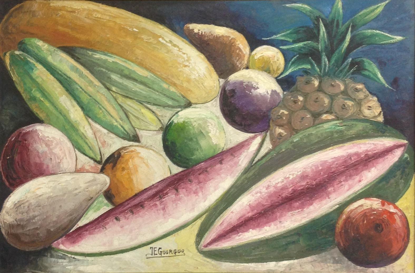 Gourgue Jacques E. 15X27 #4-3-96 canvas