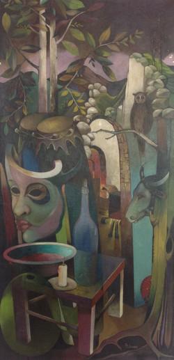 Gourgue Jacques E.24X48 #41-3-96 canvas