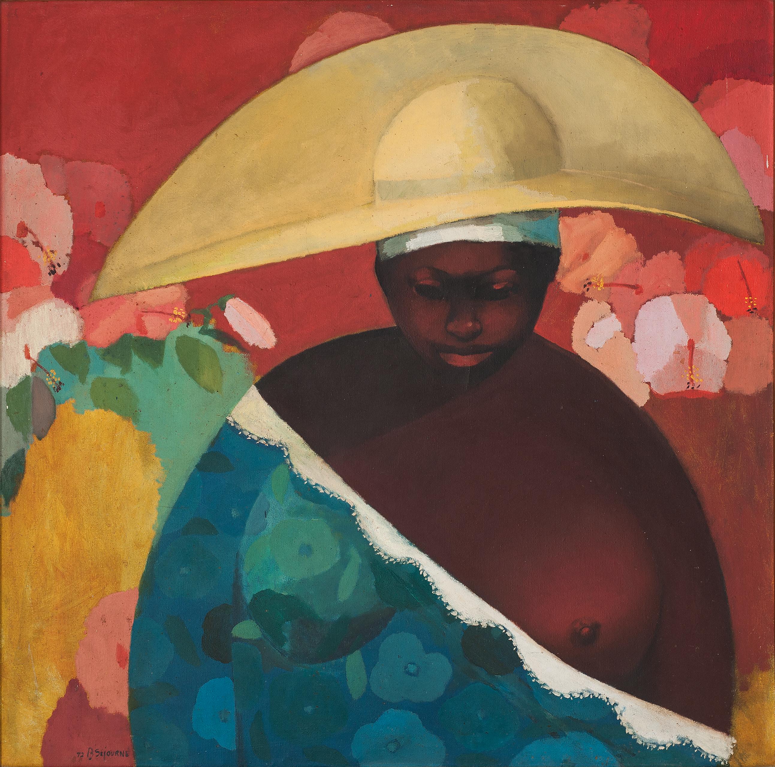 Sejourne Bernard 40X40 #19-3-96 Canvas 1