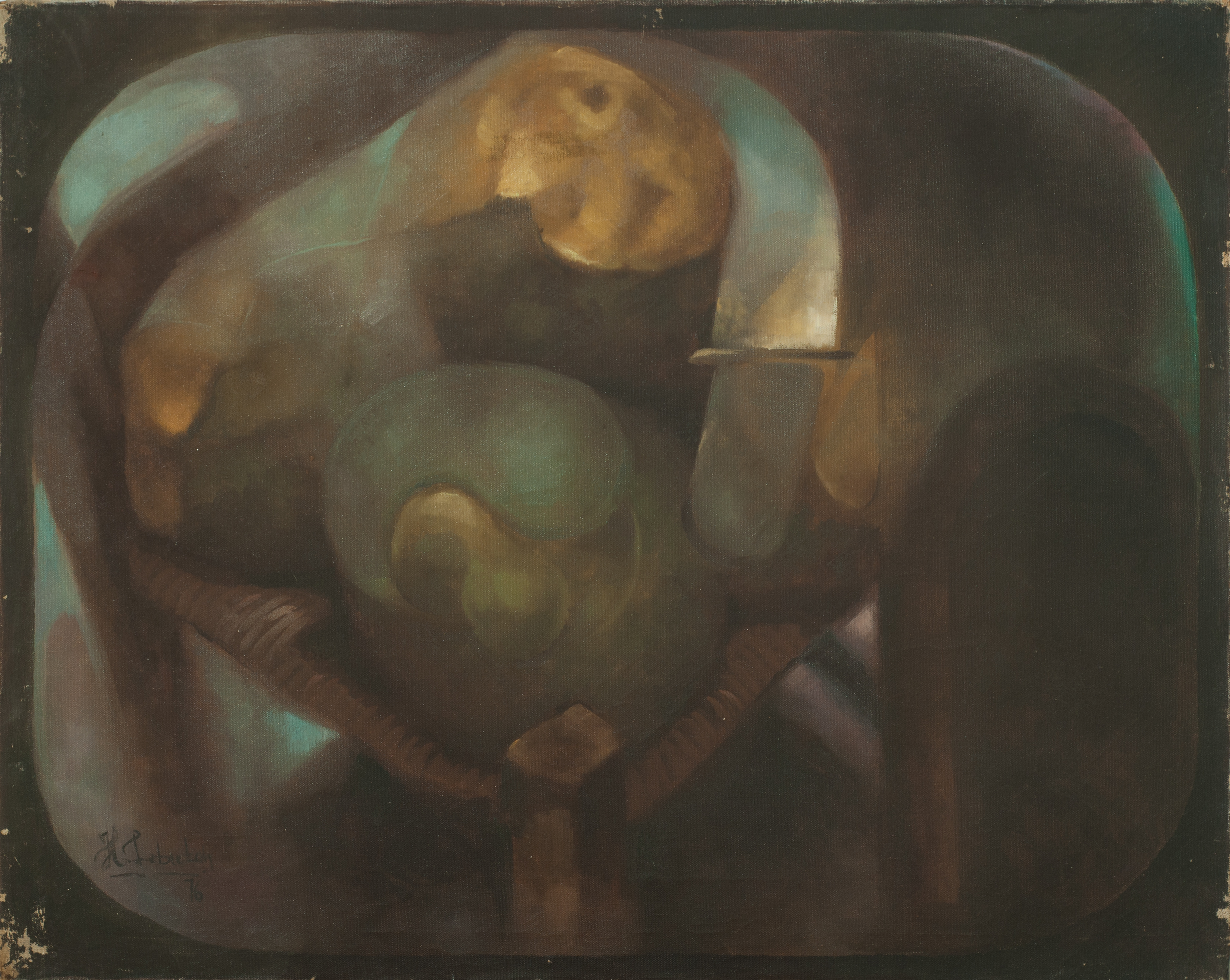 Lebreton Herve 24X30 #9-3-96 Canvas 1976