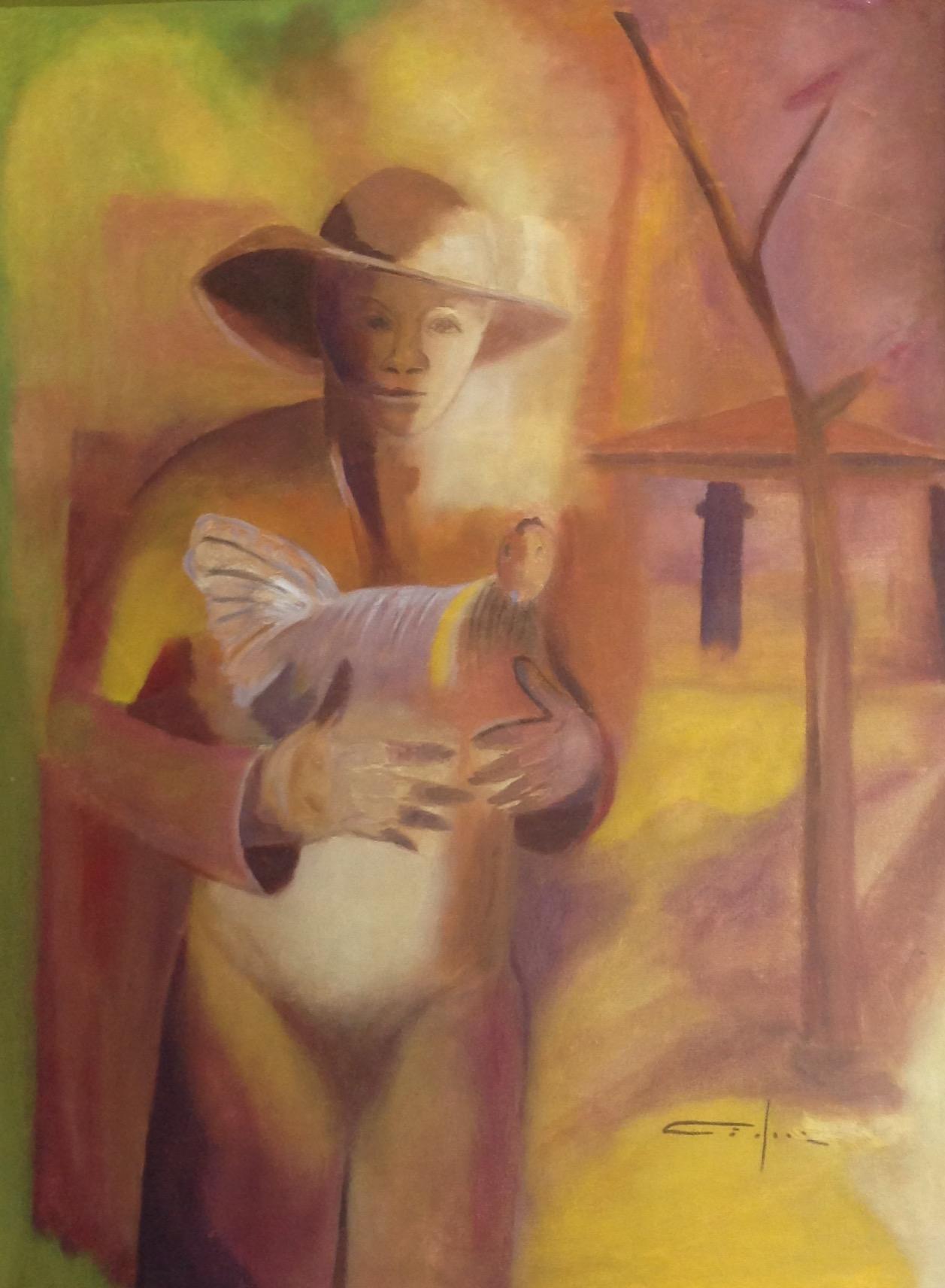 Dieudonne Cedor 30X40 #3-2-95 canvas