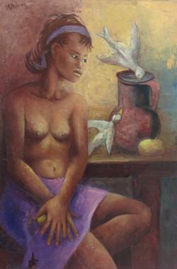 Desruisseau Rose Marie 24X36 #12-3-96 canvas 1971