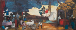 Faustin Celestin 32X80 #22-3-96 Canvas C